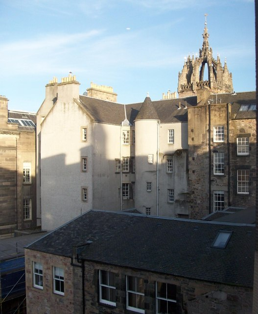 St.Giles Cathedral Crown Spire above Advocate's Close