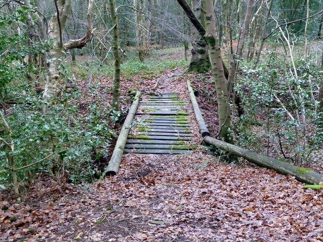 Footbridge over Coumes Brook