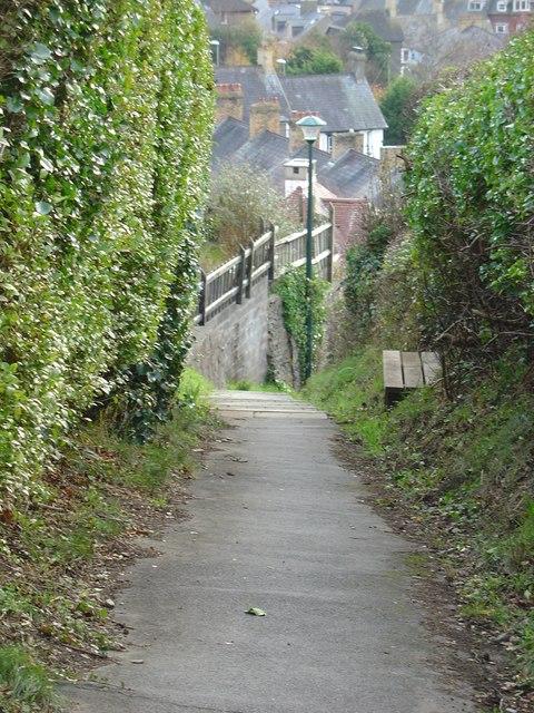 Path from Bryn Road to North Road, Aberystwyth