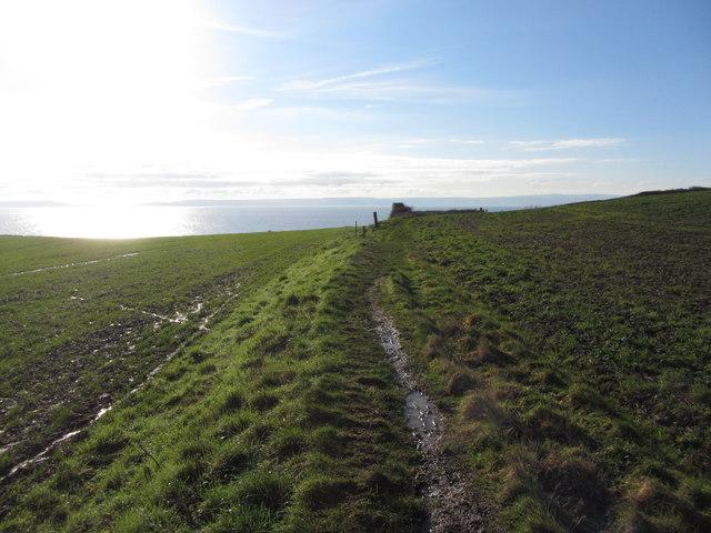 Nearing the coast near Llantwit Major