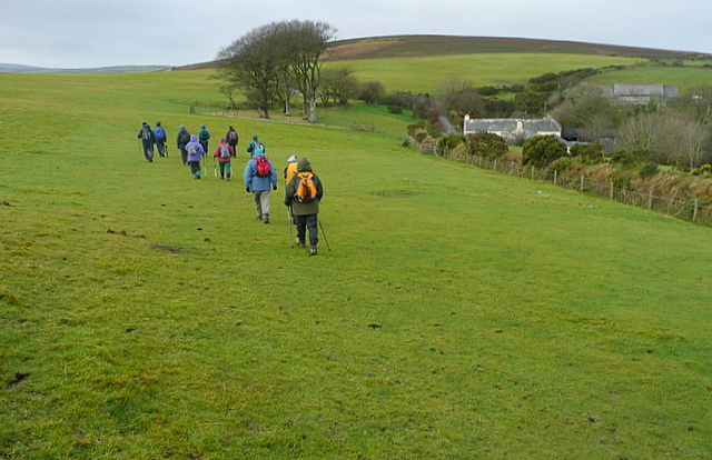 Walking past Kipscombe Farm