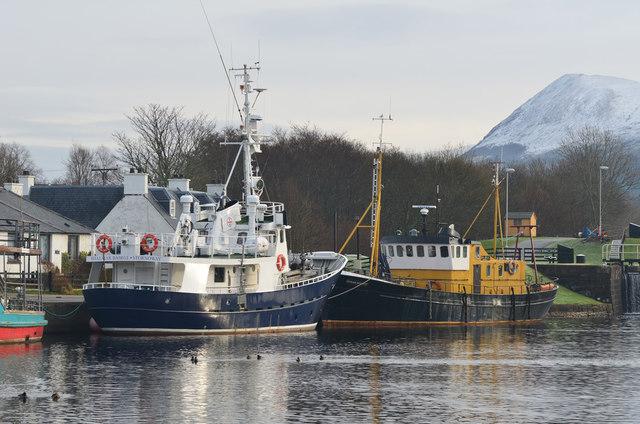 Boats at Corpach