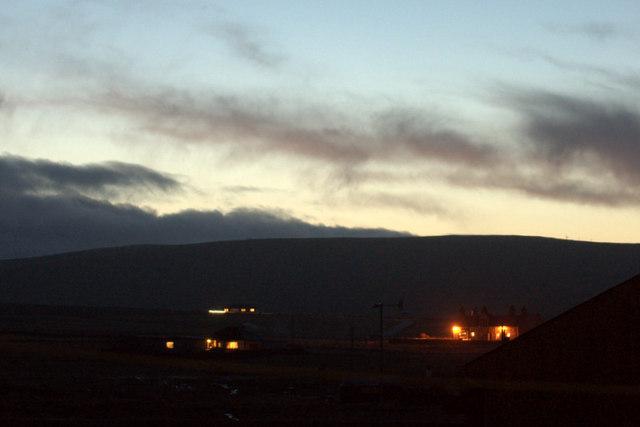 Baltasound at dusk