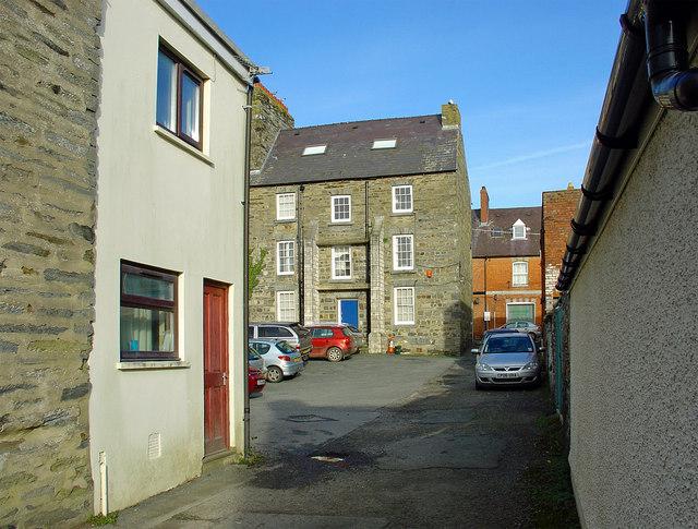 Courtyard off Pwll-hai, Cardigan