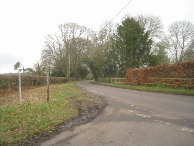 Lane junction near Baughurst House