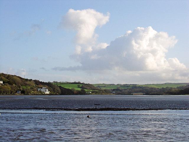 Nyfer Estuary: falling tide