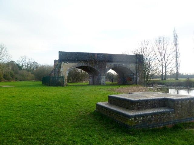 Blandford Forum, dismantled railway bridge