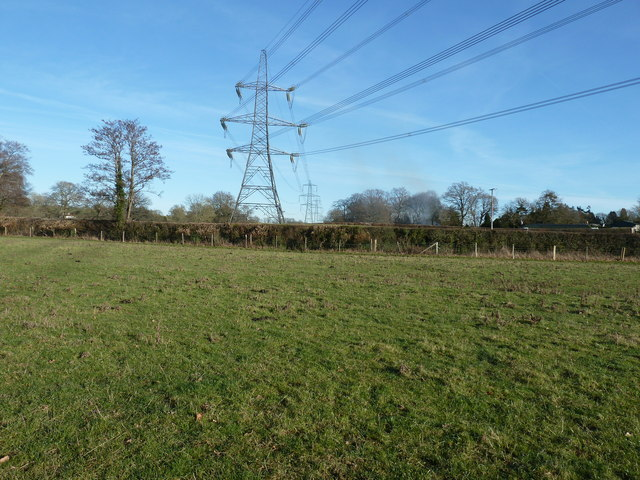 Pylons eastbound north of Chailey
