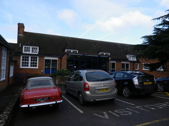 Cars parked at Restbourne Community School