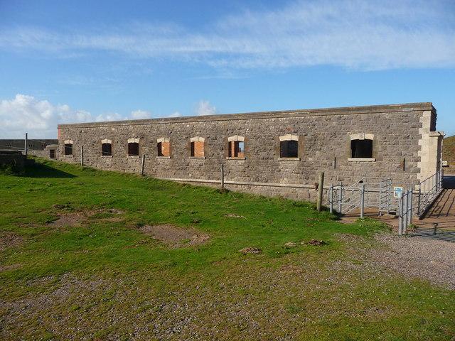 Brean Down - Brean Down Fort Barrack Block