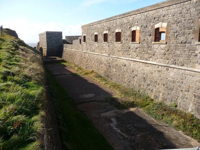 Brean Down - Brean Down Fort Dry Moat