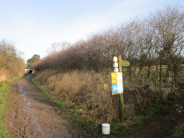 The footpath to the south of Carr Farm