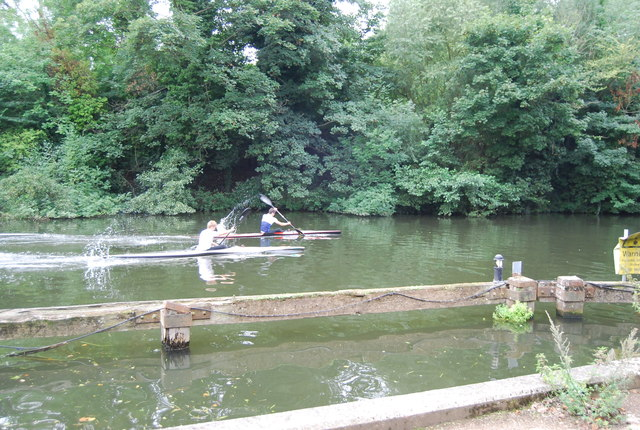 Canoeing on the River Medway