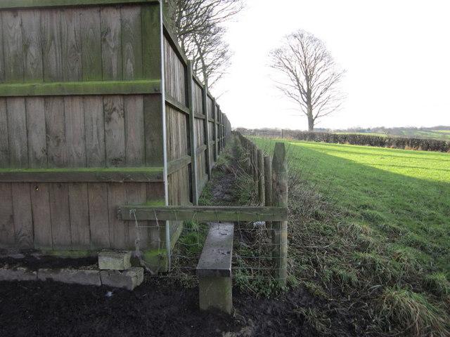 A footpath at Birkby Grange