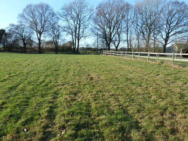 Footpath alongside Holford Manor