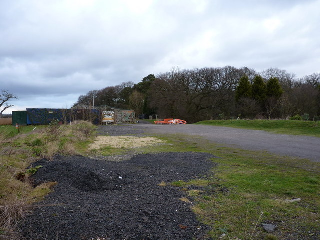Paintball site at The Honey Pots wood