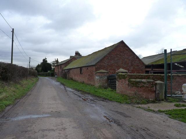Farm buildings at Lower Drayton Farm