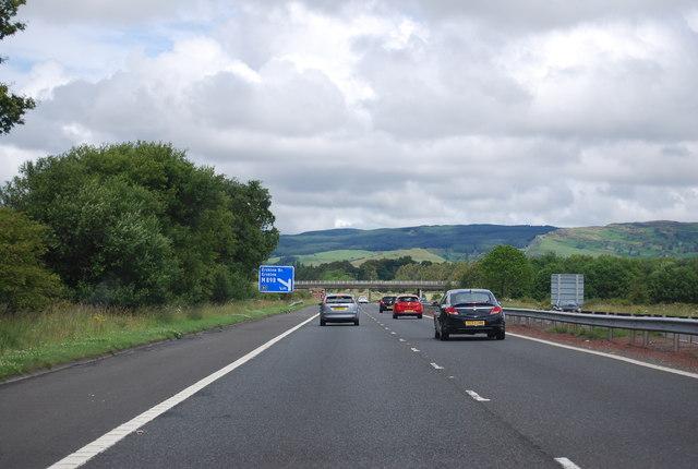 M8 heading north