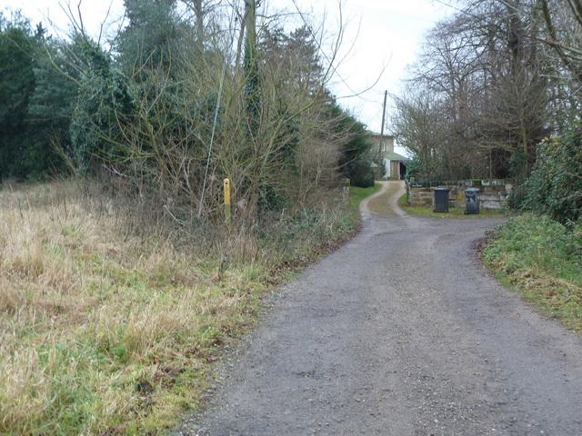 End of Mill Lane, Church End