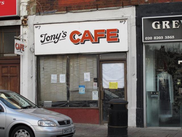 Tony's Cafe, Church Road, NW4