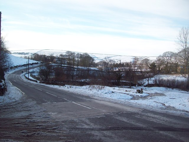 Road Junction at Perryfoot