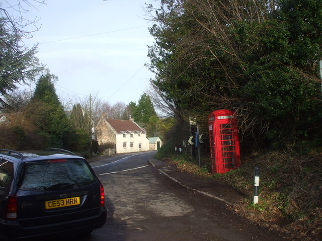 Junction of Barn Lane and A368, Chelwood