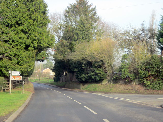 Stoke Prior Astwood Lane Junction With Shaw Lane