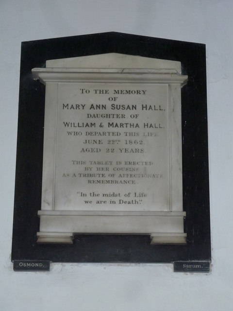 St Mary's Church, Breamore- memorial (h)