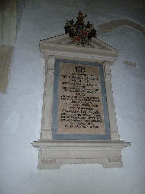 St Mary's Church, Breamore- memorial (i)