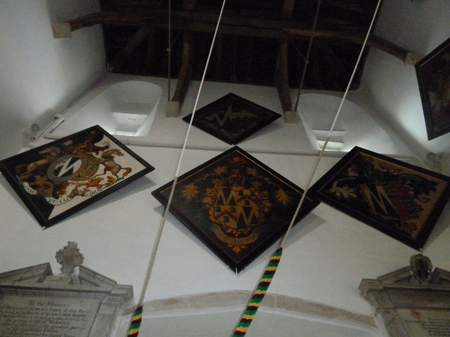 St Mary's Church, Breamore- hatchments (A)