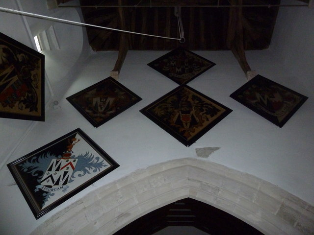 St Mary's Church, Breamore- hatchments (B)