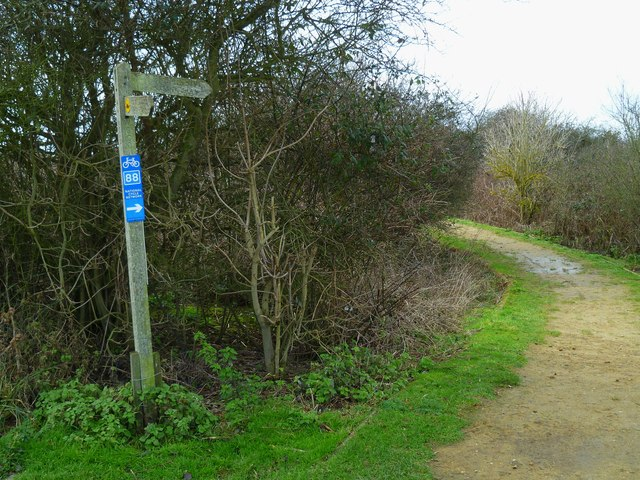 Permissive bridleway and sign by Pagham Harbour