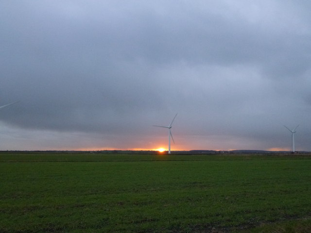 Two types of power - wind and solar