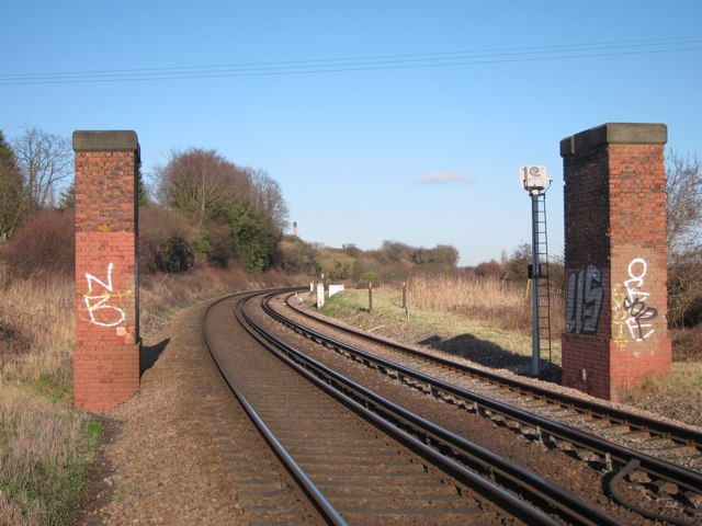 Former bridge over Kent Coast Line