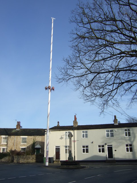 Maypole and War Memorial, Barwick in Elmet
