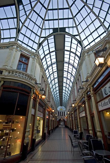 Hepworth's Arcade, Hull, looking east
