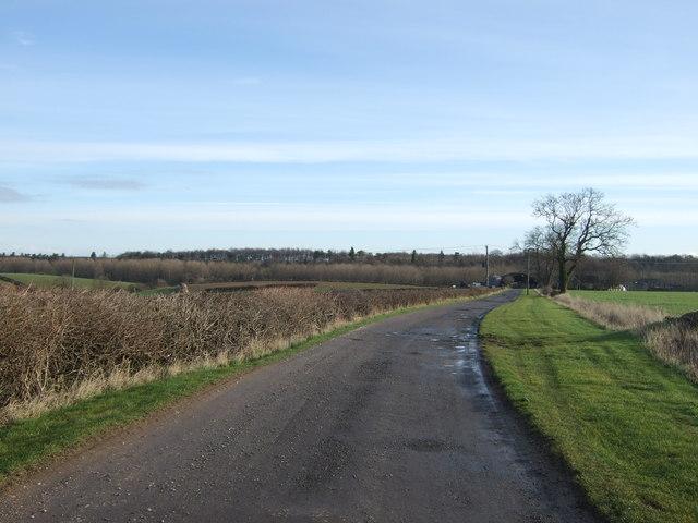 Highfield Lane towards Highfield Farm
