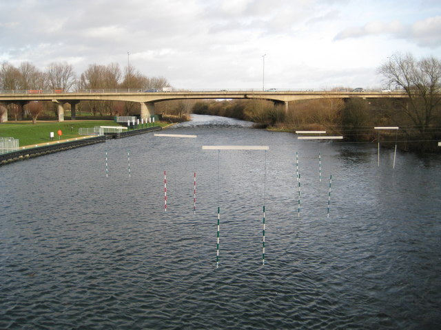 River Nene downstream of Orton Lock and Sluices