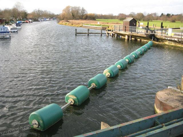 River Nene upstream of Orton Sluices