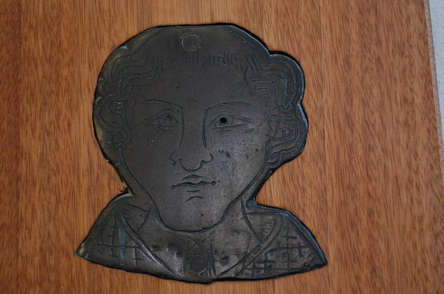 Head of a Priest, Brass, St Mary's church