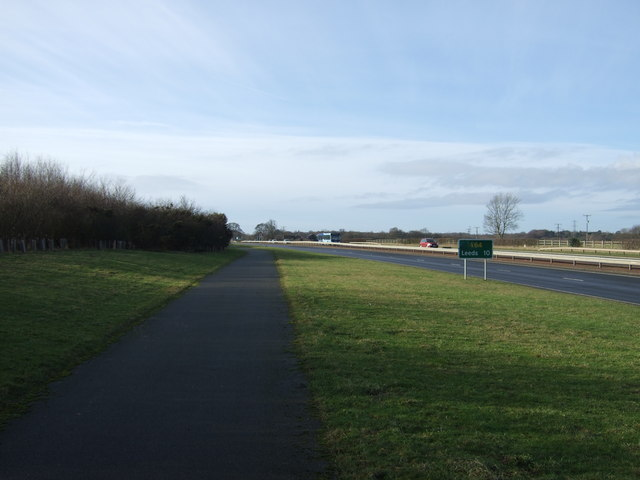 Cycle path beside the A64