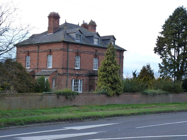 Home Farm house beside the A449