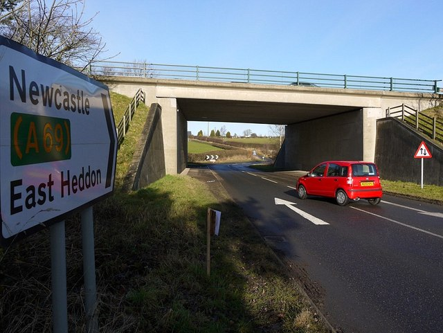 A69 underpass north of Heddon on the Wall