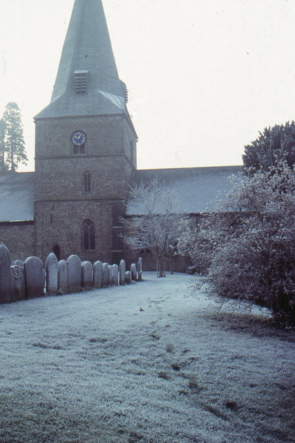 St Mary's church, Fownhope, from the lych-gate