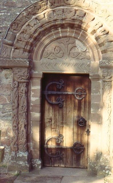 Kilpeck church, main door