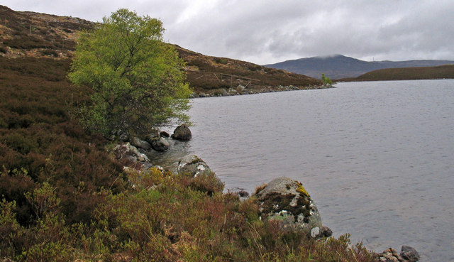 Eastern extent of north shore of Loch Caoldair
