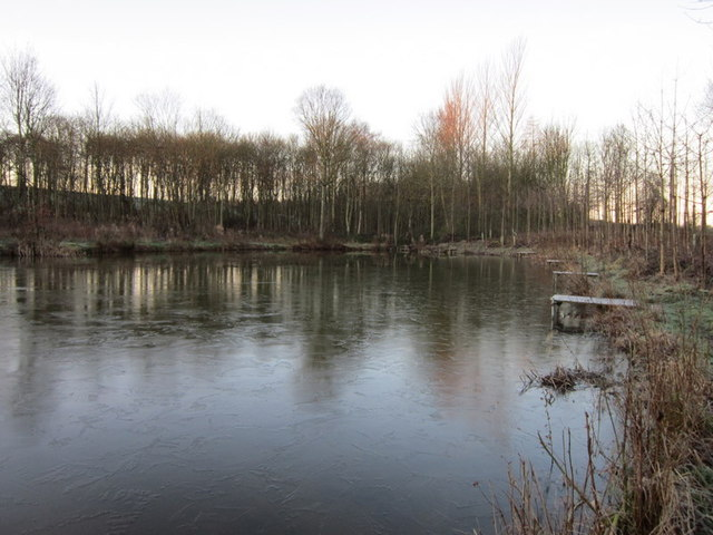 The fishing lake at Gamekeepers Cottage
