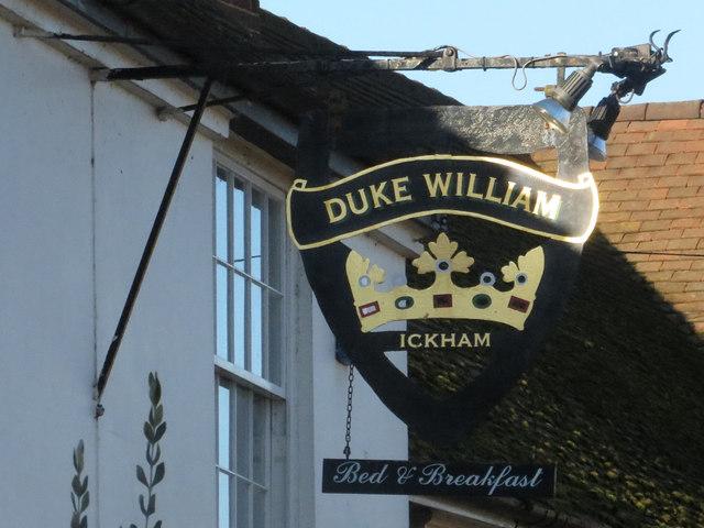 Duke of William sign