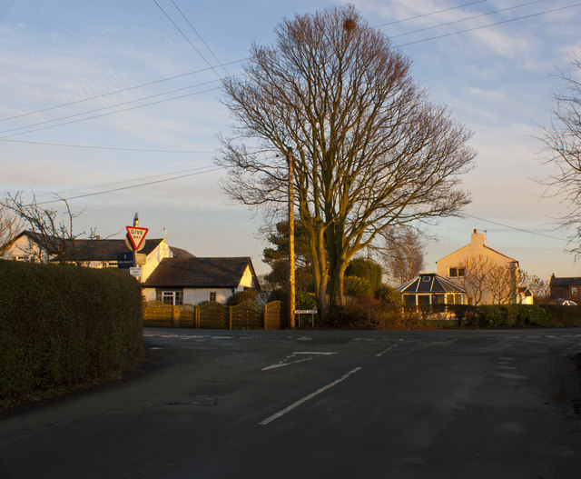 The junction of Dam Lane and Smithy Lane