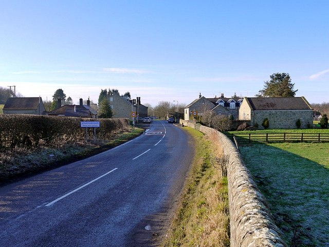 Bridge End, Stamfordham from the east